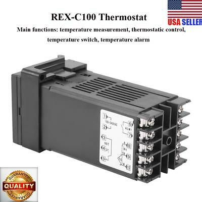 Digital PID Temperature Controller Thermostat REX-C100 Thermocouple RELAY output