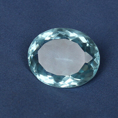 22.85 Ct Natural Aquamarine Greenish Blue Color Oval Cut Loose Certified Gem