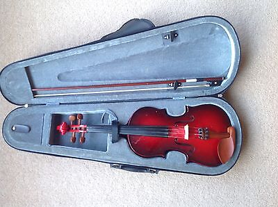 Valencia Student Violin Outfit Case, Bow & Rosin As New Bargain