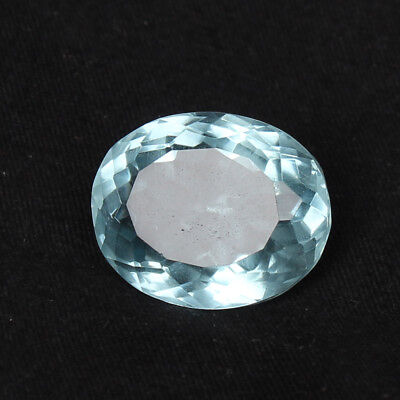 21.30 Ct Natural Aquamarine Greenish Blue Color Oval Cut Loose Certified Gem