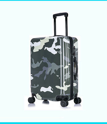 D964 Gray Universal Wheel Coded Lock Travel Suitcase Luggage 20 Inches W