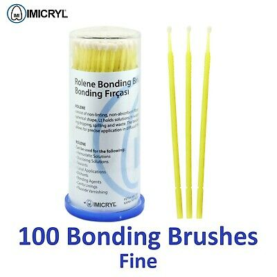 100X Dental Disposable Applicators Brushes Bonding Etching Micro Fine