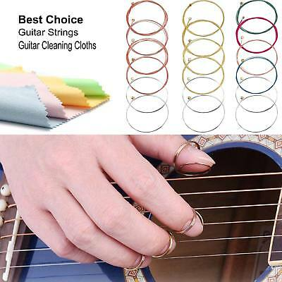 Guitar Strings Full Set Acoustic Classical Standard Chords w/Cleaning Cloth free
