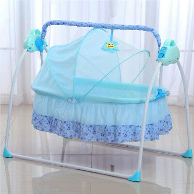 Bassinet Infant Cradle Folding Baby Toddler Sleeper Crib Portable Bed safety UPS