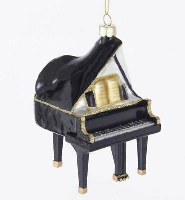 Grand piano glass Christmas decoration ornament music gift beautifully made