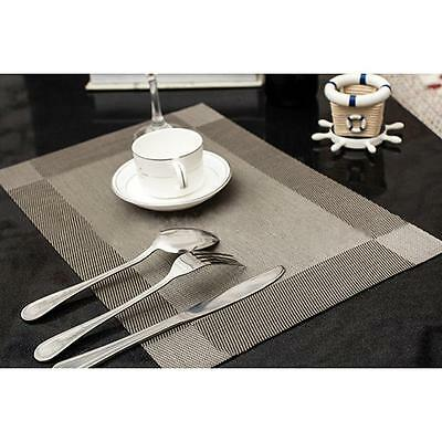PVC Home Dining Room Table Placemats Stain-resistant Heat Insulation Mats MA