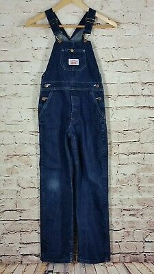Round House Size 12 Blue Bib Denim Overall Pants Youth Boys Girls Made in USA