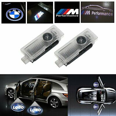 4X 2X BMW LED Car Door Logo Courtesy Laser Welcome Lights Projector Shadow Lamps