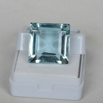 25.30 Ct Natural Aquamarine Greenish Blue Color Square Cut Loose Certified Gem