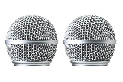 2 PCS SM58 Microphone Grille Replacement Fit for Shure SM58 Grille Cover RK143G