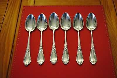 solid silver teaspoons William Coghill Glasgow 1848 weight 120 grm lovely patt