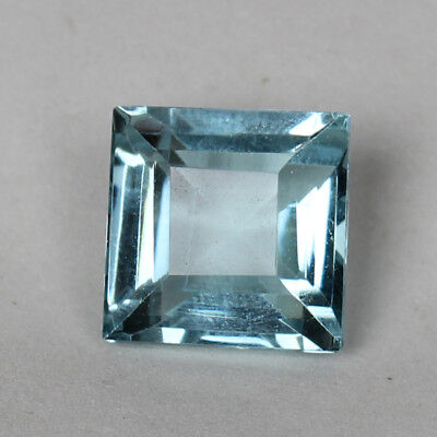 20.60 Ct Natural Aquamarine Greenish Blue Color Square Cut Loose Certified Gem