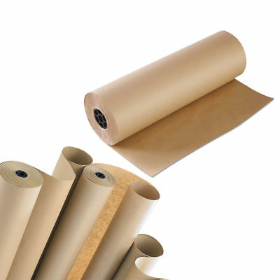 Brown Kraft Paper Roll 88gsm Heavy Duty Strong Wrapping Parcel Packaging Sheets