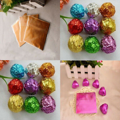 Muti-color Square Aluminum Foil Wrappers Sweets Candy Chocolate Packing Supplies