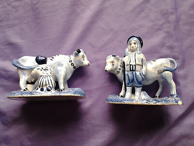 Antique Dutch Delft Figurines. (late 18th - early 19th Century)