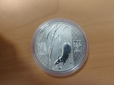 Year of the Rat-Mouse 1 oz 925 silver Russia 2008