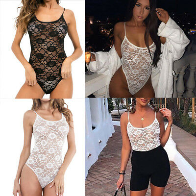 Women Lace Sexy Passion Lingerie Deep V Halter Full Cup Babydoll G-string Dress
