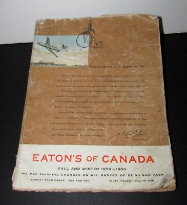Vintage Collectable Eaton Catalog  Fall And Winter 1959-1960