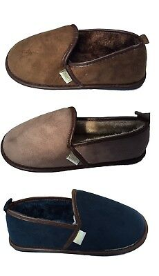 NEW Coolers Mens Slip On Slippers Lightweight Faux Suede Sizes 7-12 UK RRP£19.95