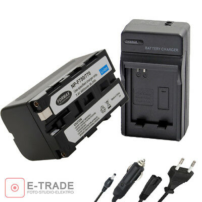 4900mAh NP-F750 Recharg. Li-ion Battery / CHARGER for Sony NP-F550 NP-F330 F53