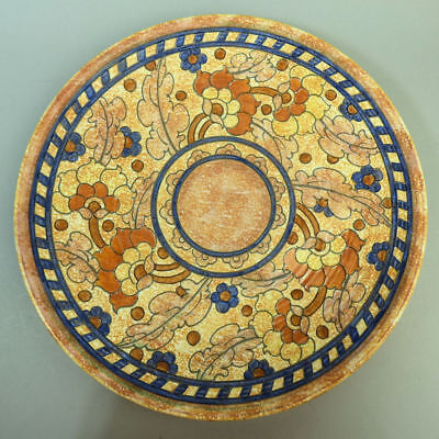 CHARLOTTE RHEAD CROWN DUCAL ART POTTERY 'BYZANTINE' WALL PLATE 1930's