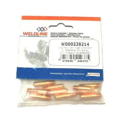 MB15 Contact Tip M6 x 25mm x 0.8mm Aluminium Contact Tips Pack Of 10