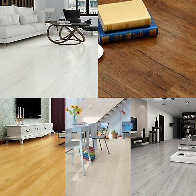Self-adhesive PVC Flooring Planks Tiles grey brown white oak 5.02 m² per pack