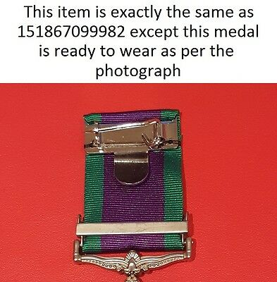 Full Size General Service Medal GSM with Northern Ireland Clasp - Ready To Wear
