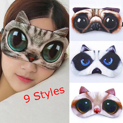 Soft Cute Blindfold Shade Cover 3D Sleeping Eyepatch Sleeping Aid Nap Eye Mask