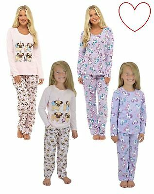 Ladies Girls Animal Pyjama Set Novelty Nightwear Gift