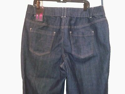 New!  LANE BRYANT Tighter Tummy Technology T3 crop jeans Size 18  36 x 20