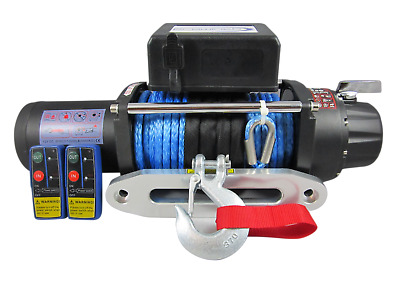 24V 13500lbs Electric Winch 10mm 30m Dyneema Synthetic Rope 4WD 13000lbs 12000lb