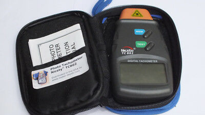 Photo Tachometer NICETY TC802 Perfect condition in case. Hardly used.