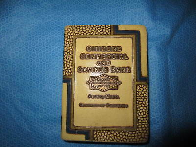 Vintage Advertising Book Bank Citizens Commercial Saving Flint Mich.Promotional!