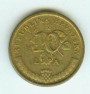 Münze International Kroatien 10 Lipa 1999
