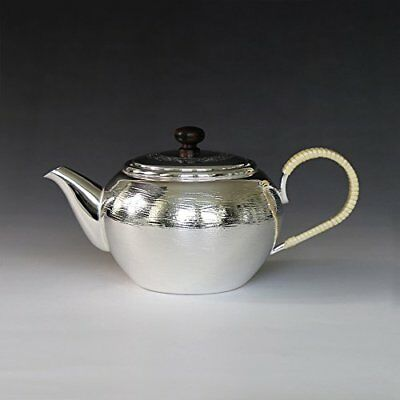 Japanese Tea Ceremony Silver Bottle Tea Kettle Teapot Ebony knob
