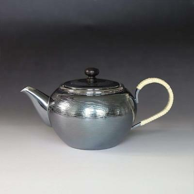Japanese Tea Ceremony Silver Bottle Tea Kettle Teapot Silver Finish