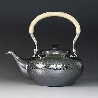 Japanese Tea Ceremony Silver Bottle Tea Kettle Teapot Silver Finish 450CC
