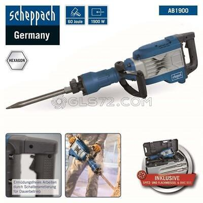 230V Demolition Hammer Breaker 1900 Watt Scheppach Ab1900