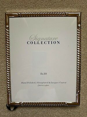 """Silver picture frame - Sheffield Home frame """"8 x 10"""" - Signature Collection"""