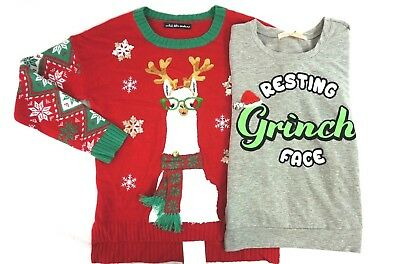 Nwt Macys Lot Of 2 Womens Ugly Christmas Holiday Sweaters Small
