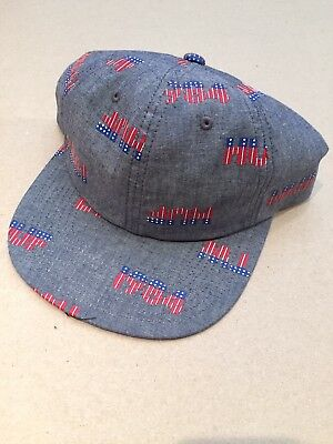 29dda7467f7 HUF 1984 6 Panel Snapback Patriotic Usa Flag hat camp cap supreme skate new  Blue