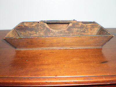 Antique 19th Century Primitive Treen Cutlery Tray Crusty Worn Surface AS IS