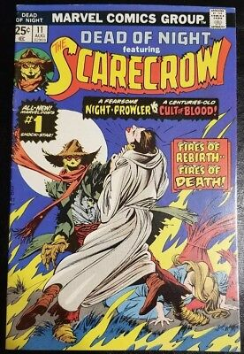 Vintage Dead of Night #11 (1975) 1st Scarecrow 1st Print FINE/VF Cond. Marvel