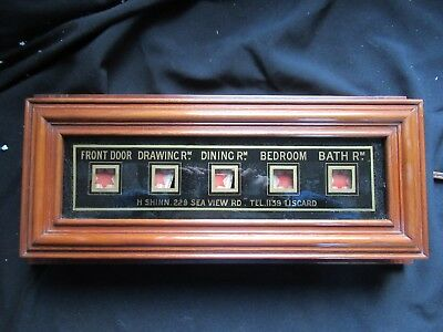 Antique 5 Room Butlers / Servant Indicator Bell Signal Box Liscard Wirral