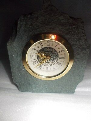 A small German Slate desk clock forspares or repair