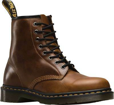 NEW Mens Dr Martens 1460 8 Eye Brown Butterscotch Orleans Waxy Leather Boots