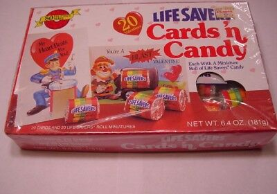 Vintage Retro LIFE SAVERS Cards 'n Candy Valentines Sealed Box Unopened
