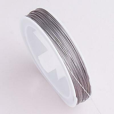 Spool of Silver Tiger Tail Cord for Beading Jewelry Necklace Crafts Making
