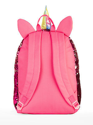 Girls' Unicorn 2-Way Sequin Backpack With Lunch Bag